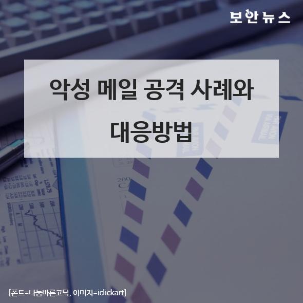 [카드뉴스] 악성 메일 공격 사례와 대응방안